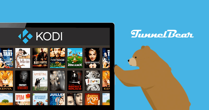 Tunnelbear-Kodi servers