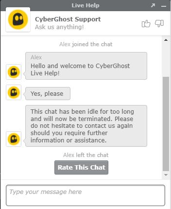 Kundendienst Cyberghost