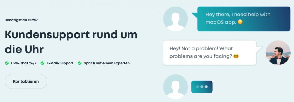 surfshark kundensupport chat