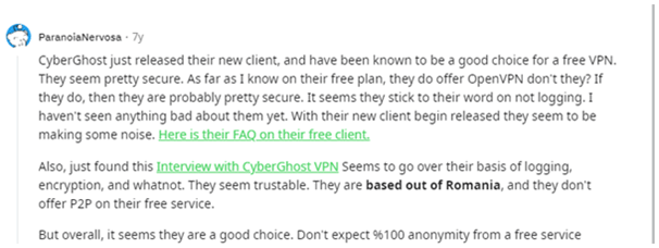 CyberGhost - Neutral Comment- 1