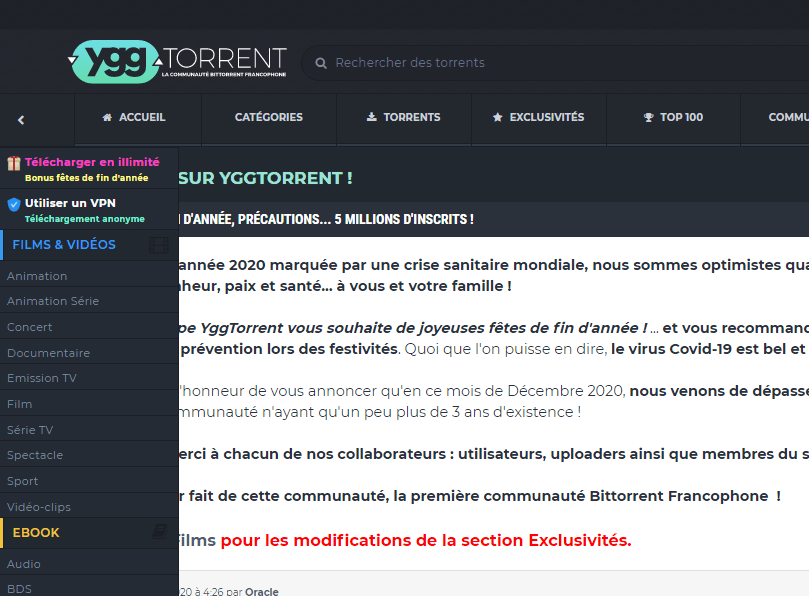 Cpasbien alternative_ygg torrent