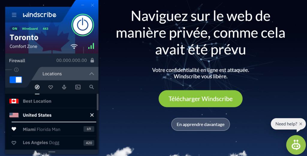 Windscribe fr