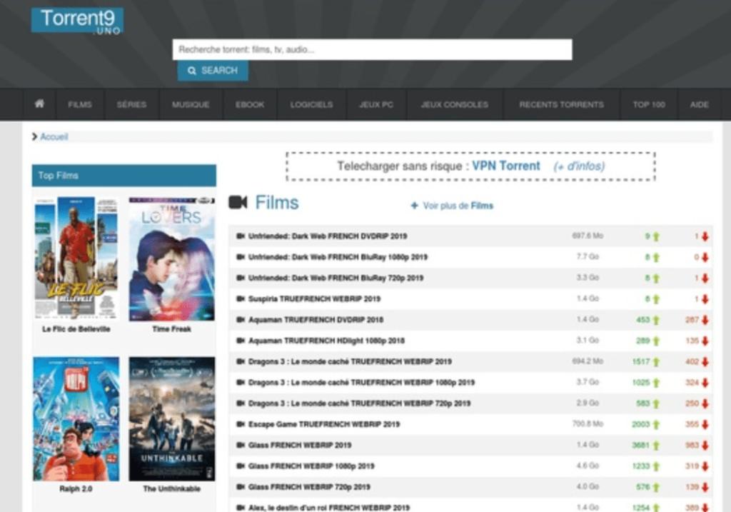 Torrent9 banner