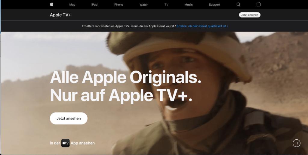 apple tv homepage