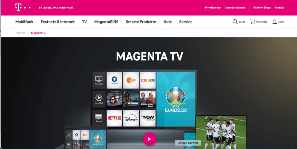 magenta tv homepage