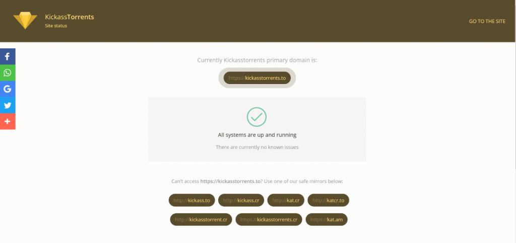 Kickass Torrent Site Status