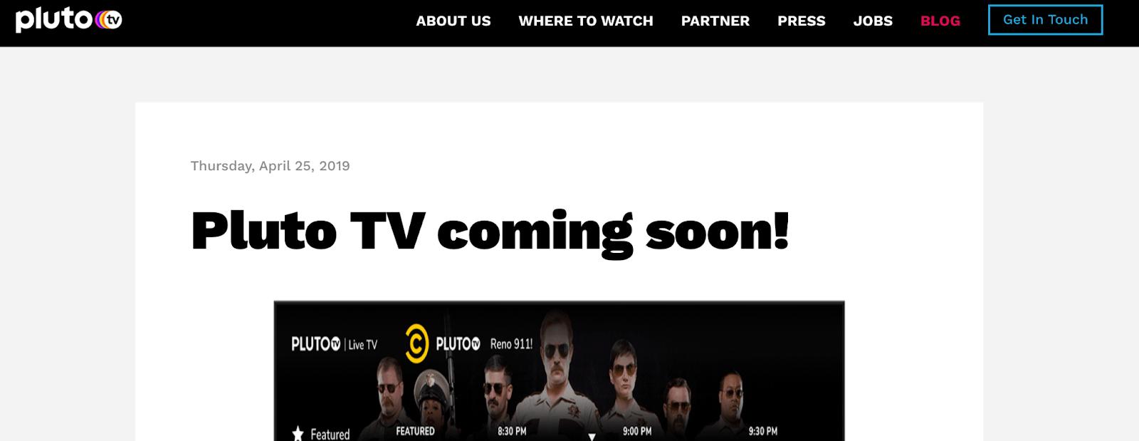 pluto tv banner