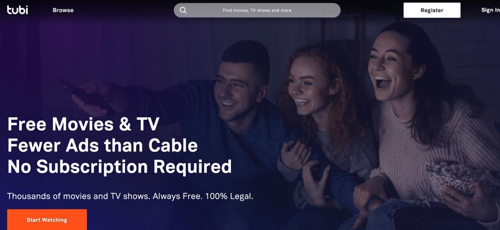 Tubi TV banner