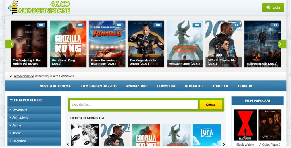 AltaDefinizione4K homepage