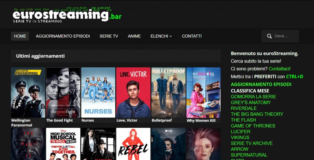 EuroStreaming homepage