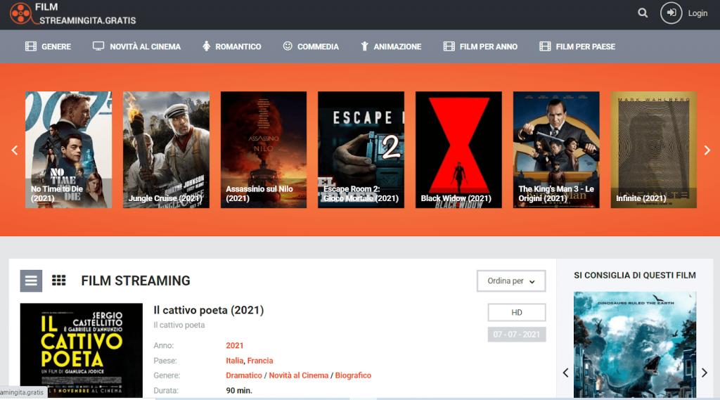FilmstreamingIta homepage