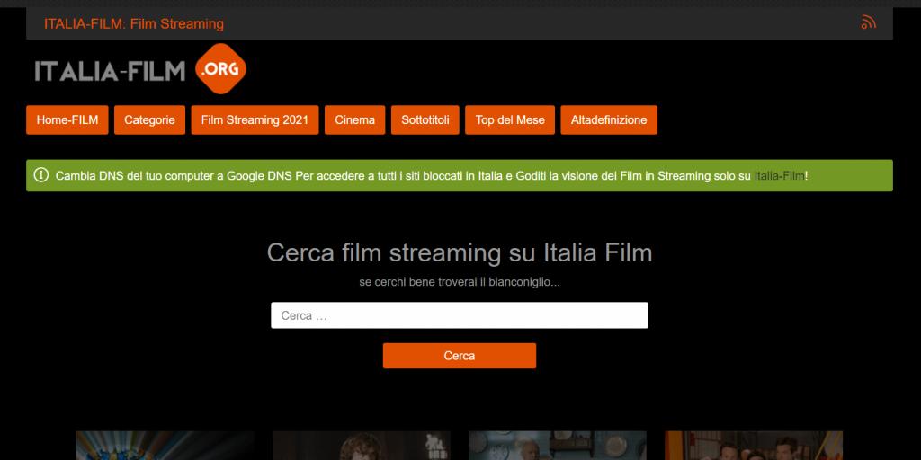 Italia-Film homepage