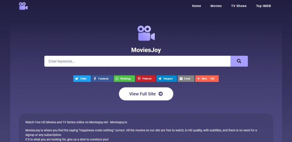 MoviesJoy homepage