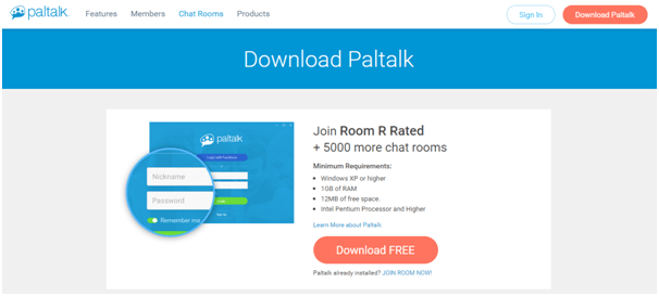 PalTalk homepage