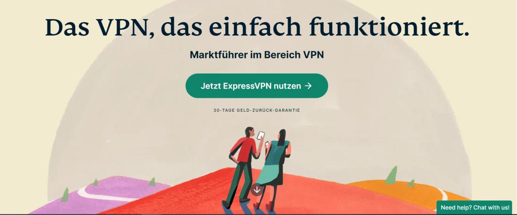 ExpressVPN homepage de