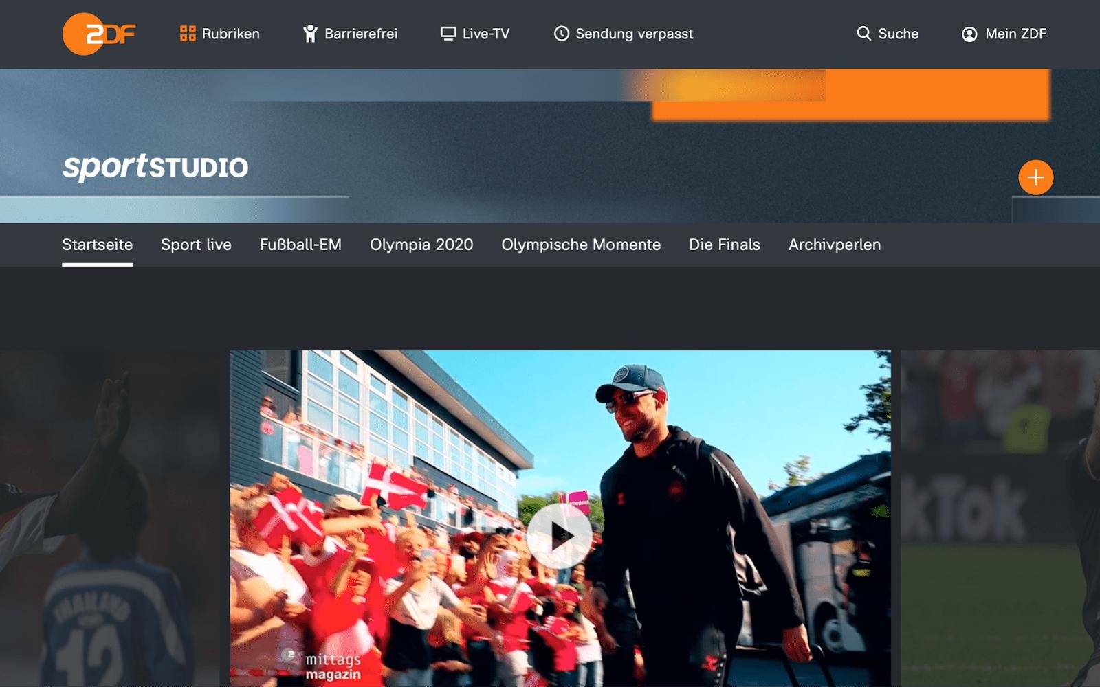 ZDF homepage