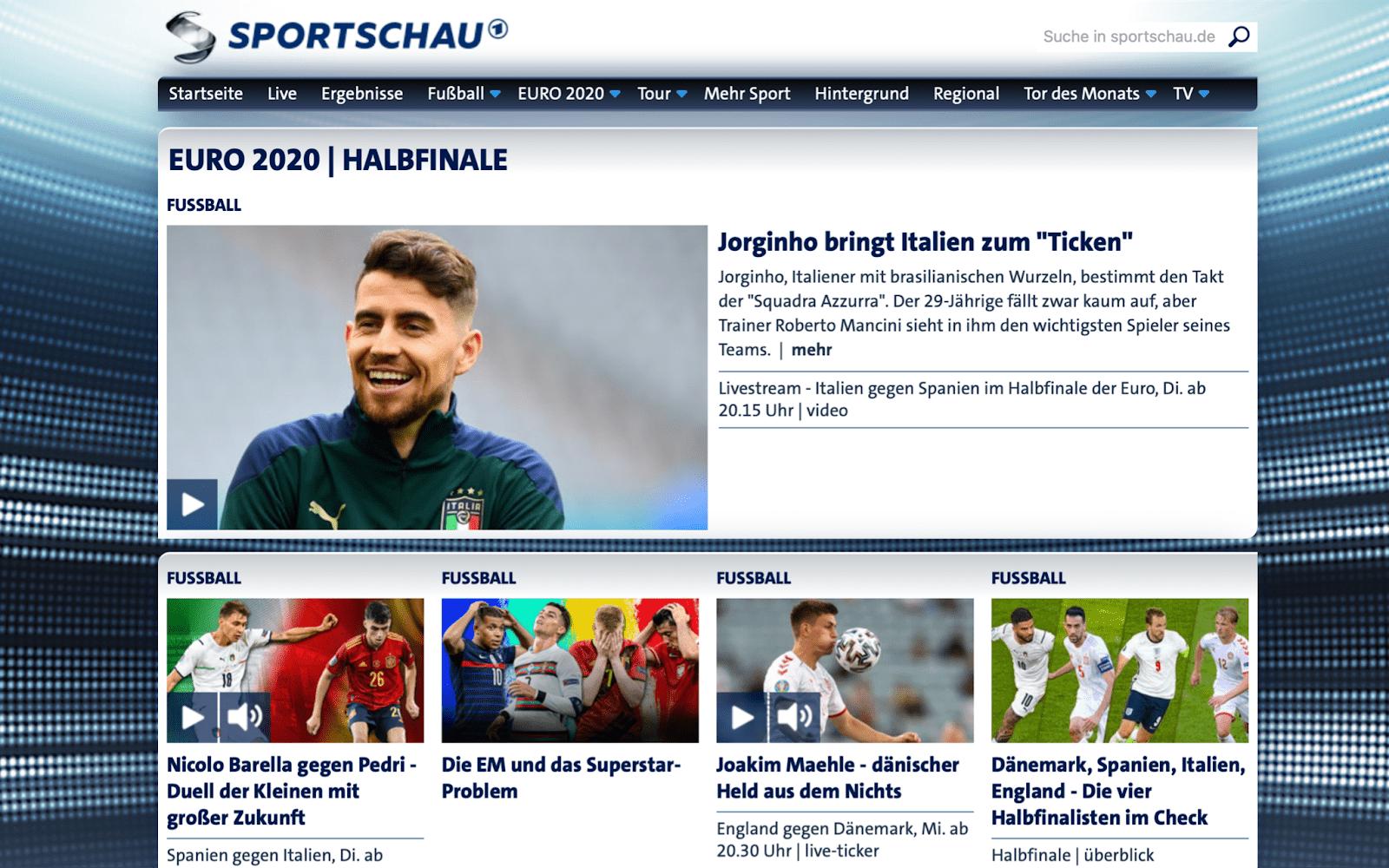 sportschau homepage